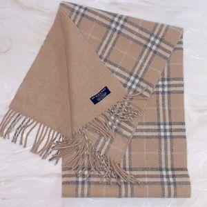 Burberry London 100% Cashmere scarf neutral plaid